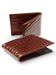 M-Clip Wallets - Cognac Alligator Wallet WT-COG-GATR - Exotic Belts and Wallets | Sam's Tailoring Fine Men's Clothing