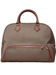 Taupe Wool Weekender Bag F3LUG003-01 - Robert Talbott Bags | Sam's Tailoring Fine Men's Clothing
