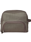 Taupe Wool Dopp Kit Bag F3LUG004-01 - Robert Talbott Bags | Sam's Tailoring Fine Men's Clothing