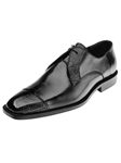 Belvedere Black Pisa Genuine Ostrich and Italian Calf Leather Shoes 4E1 - Fall 2015 Collection Shoes | Sam's Tailoring Fine Men's Clothing