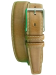 Carmel Shaped Leather Belt With Contrast BL109-01 - Robert Talbott Belts and Straps | Sam's Tailoring Fine Men's Clothing