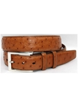 Saddle South African Ostrich Quilled Belt 50887 - Torino Leather Exotic Belts | Sam's Tailoring Fine Men's Clothing
