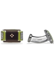 Robert Talbott Kiwi Deco Tray Cufflink LC1275-01 - Spring 2014 Collection Cufflinks | Sam's Tailoring Fine Men's Clothing
