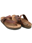 Mephisto Chestnut Natural Leather Sandal NIELS-3478 - Casual Sandals | Sam's Tailoring Fine Men's Clothing