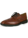Mephisto Chestnut Supreme Paolino Wingtip Dress Oxford Shoes PAOLINO-7378 - Oxfords Men's Shoes | Sam's Tailoring Fine Men's Clothing
