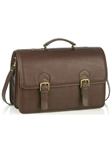 Aston Leather Brown Oversized Multi-Compartment Briefcase 216-BC - Spring 2016 Collection Business and Travel Essentials | Sam's Tailoring Fine Men's Clothing