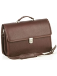 Aston Leather Brown Oversized Multi-Compartment Briefcase 266-BC - Spring 2016 Collection Business and Travel Essentials | Sam's Tailoring Fine Men's Clothing