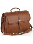 Aston Leather Tan Briefcase with Laptop Computer Case 237-BC - Spring 2016 Collection Business and Travel Essentials | Sam's Tailoring Fine Men's Clothing