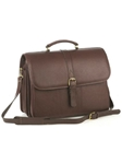 Aston Leather Brown Briefcase with Laptop Computer Case 237-BC - Spring 2016 Collection Business and Travel Essentials | Sam's Tailoring Fine Men's Clothing