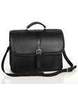Aston Leather Black Briefcase with Laptop Computer Case 237-BC - Spring 2016 Collection Business and Travel Essentials | Sam's Tailoring Fine Men's Clothing