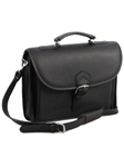 Aston Leather Black Single Compartment Briefcase 85-BC - Spring 2016 Collection Business and Travel Essentials | Sam's Tailoring Fine Men's Clothing