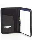 Aston Leather Black Leather Writing Pad Portfolio with Zipper PRTF-3 - Spring 2016 Collection Accessories Portfolios | Sam's Tailoring Fine Men's Clothing