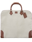 Cream Cotton Garment Case F3LUG005-01 - Robert Talbott Bags | Sam's Tailoring Fine Men's Clothing