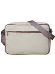 Cream Cotton Commuter Case F3LUG007-01 - Robert Talbott Bags | Sam's Tailoring Fine Men's Clothing