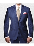 IKE Behar Bold Blue Pin Stripe Fully Lined Notched Lapel 20061802-430 - Suits | Sam's Tailoring Fine Men's Clothing