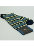 Blue Gray Stripes Wool Sock SAMSUITGALLERY-72 - Robert Talbott Socks Footwear | Sam's Tailoring Fine Men's Clothing