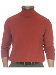 Robert Talbott Brown Orange Moore Jacq Front Tutle Neck Sweater LS684-02 - Fall 2014 Collection Sweaters and Polo | Sam's Tailoring Fine Men's Clothing