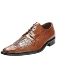 Belvedere Camel Dotto Genuine Crocodile and Eel Leather Shoes 3N0 - Spring 2015 Collection Shoes | Sam's Tailoring Fine Men's Clothing