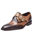 Belvedere Brown Camel Pasta Genuine Lizard Leather Shoes 1450 - Fall 2015 Collection Shoes | Sam's Tailoring Fine Men's Clothing