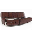 Torino Leather Cognac South American Caiman Belt 50387 - Holiday 2014 Collection Exotic Belts | Sam's Tailoring Fine Men's Clothing