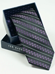 Ted Baker Black with Striped Pattern Silk Tie SAMSTAILOR-5293 - Fall 2014 Collection Ties | Sam's Tailoring Fine Men's Clothing