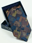 Ted Baker Navy with Artistic Design Silk Tie SAMSTAILOR-5321 - Fall 2014 Collection Ties | Sam's Tailoring Fine Men's Clothing