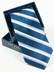 Ted Baker Navy Stripes Silk Tie SAMSTAILOR-5325 - Fall 2014 Collection Ties | Sam's Tailoring Fine Men's Clothing