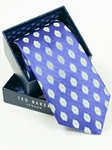 Ted Baker Han Purple with Floral Design Silk Tie SAMSTAILOR-5329 - Fall 2014 Collection Ties | Sam's Tailoring Fine Men's Clothing