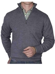 Robert Talbott Graphite Cooper ¼ Zip Sweater LS678-04 - Fall 2014 Collection Sweaters and Polo | Sam's Tailoring Fine Men's Clothing