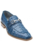 Belvedere Blue Jean Mercuri Genuine Crocodile Leather Shoes 1483 - Fall 2015 Collection Shoes | Sam's Tailoring Fine Men's Clothing