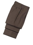 Hickey Freeman Brown Traveler Wool Pleated Trousers 45600512PB077 - Spring 2015 Collection Trousers | Sam's Tailoring Fine Men's Clothing