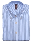 Robert Talbott Light Blue and White Stripes Medium Spread Collar Trim Fit Estate Dress Shirt C2648I3V-24 - Spring 2015 Collection Dress Trim Shirts | Sam's Tailoring Fine Men's Clothing