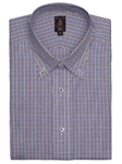 Robert Talbott Mutli Color with Check Design Medium Spread Collar Trim Fit Estate Dress Shirt C2659I3V-24 - Spring 2015 Collection Dress Trim Shirts | Sam's Tailoring Fine Men's Clothing