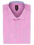 Robert Talbott Pink White with Check Design Spread Collar Cotton Estate Dress Shirt F2657ISV-27 - Spring 2015 Collection Dress Shirts | Sam's Tailoring Fine Men's Clothing