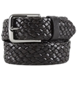 Black Braided Genuine Calf Leather Belt BL124-02 - Robert Talbott Belts and Straps | Sam's Tailoring Fine Men's Clothing