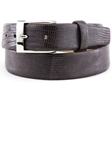 Dark Brown High Gloss Iguana Leather Belt BL121-02 - Robert Talbott Belts and Straps | Sam's Tailoring Fine Men's Clothing