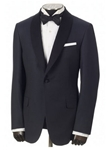 Hickey Freeman Navy Jacquard Dinner Jacket 51598101B038 - Spring 2015 Collection Formal Wear | Sam's Tailoring Fine Men's Clothing