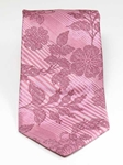 Ted Baker Old Rose with Floral Patterned Striped Silk Tie 1686 - Fall 2014 Collection Ties | Sam's Tailoring Fine Men's Clothing