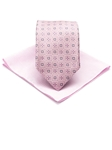 Robert Talbott Pink Combo Best of Class Tie and Pocket Square 19907-05 - Fathers Day Gift Set Collection | Sam's Tailoring Fine Men's Clothing