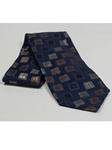 Jhane Barnes Navy with Geometric Design Silk Tie JLPJBT0097 - Ties or Neckwear | Sam's Tailoring Fine Men's Clothing