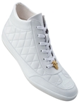 Belvedere White Alessio Genuine Crocodile And Soft Calf Casual Sneakers 33045 - Fall 2015 Collection Shoes | Sam's Tailoring Fine Men's Clothing