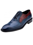 Belvedere Antique Blue Safari Duccio Alligator and Italian Calf Leather Shoes D47 - Fall 2015 Collection | Sam's Tailoring Fine Men's Clothing