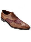 Belvedere Antique Maple Sesto Hand Painted Genuine Alligator and Italian Calf Shoes 1B8 - Fall 2015 Collection | Sam's Tailoring Fine Men's Clothing