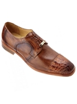 Belvedere Antique Saddle Suprimo Hand Painted Genuine Crocodile and Italian Calf Shoes 1113 - Fall 2015 Collection | Sam's Tailoring Fine Men's Clothing