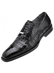 Belvedere Black Marcello Genuine Crocodile Lace Up Toe Shoes 1493 - Fall 2015 Collection Shoes | Sam's Tailoring Fine Men's Clothing