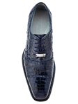 Belvedere Navy Marcello Genuine Crocodile Lace Up Cap Toe Shoes 1493 - Fall 2015 Collection Shoes | Sam's Tailoring Fine Men's Clothing