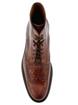 Belvedere Antique Almond Vito Rubber Sole Boot with Antique Italian Leather and Genuine Alligator G14 - Fall 2015 Collection Boots and Lug Rubber Soles | Sam's Tailoring Fine Men's Clothing