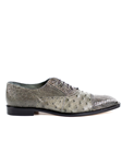 Belvedere Gray Onesto II Genuine Ostrich and Crocodile Combination Leather Shoes 1419 - Fall 2015 Collection Shoes | Sam's Tailoring Fine Men's Clothing