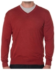 Robert Talbott Redwood Merino Silk V-Neck Pasadera Sweater LS716-05 - Fall 2015 Collection Sweaters | Sam's Tailoring Fine Men's Clothing