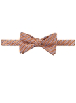 Robert Talbott Peach Blue Stripe Best Of Class Wall Street Bow Tie 563102C-01 - Spring 2016 Collection Bow Ties and Sets | Sam's Tailoring Fine Men's Clothing